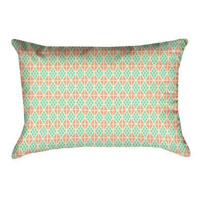 Latitude Run Avicia Pillow Cover Colour Teal Orange Cover Material Cotton Twill Pillows Pillow Covers Lumbar Pillow