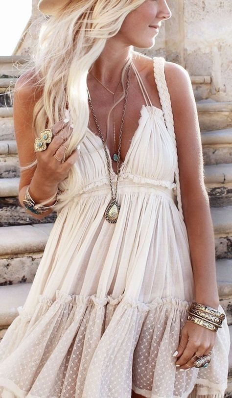 robe hippie chic, une boho robe originale
