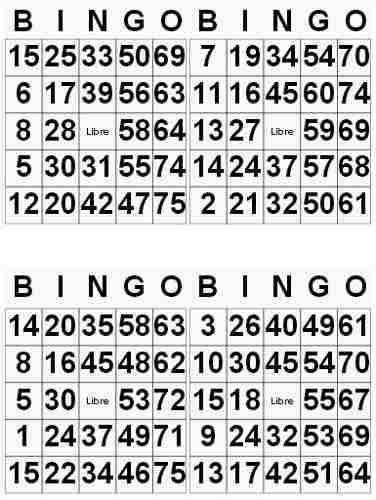 Cartones De Bingo No Repetidos Garantizados Cartones De Bingo Bingo Bingo Para Imprimir