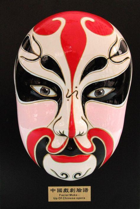 Chinese Opera Makeup Mask A facial makeup symbolizes