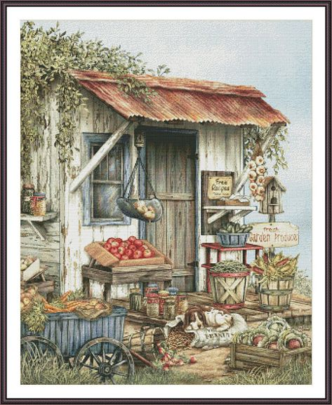 Chickadees by Terry Doughty FRAMED PRINT 12x15 Birds Wagon Wheel AT THE PUMP