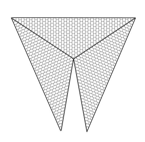 Schemes for the beading by Lady Lunar Cat Triangle Peyote pattern - triangular graph paper