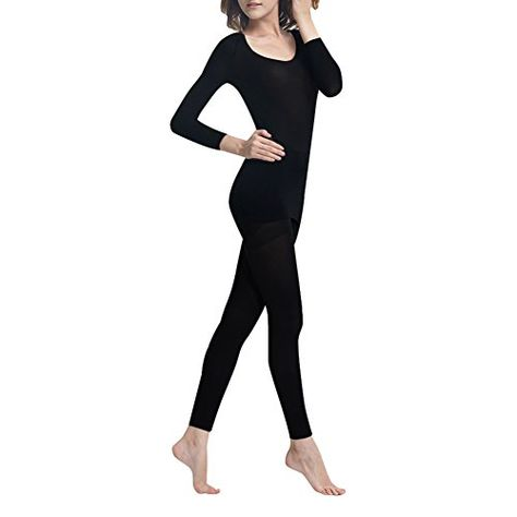 LIQQY Womens Ultra Thin Scoop Neck Long-Sleeve Thermal Underwear Shirt Top