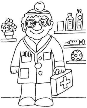 Ausmalbild Berufe Kostenlose Malvorlage Arzt Kostenlos Ausdrucken Coloriage Docteur