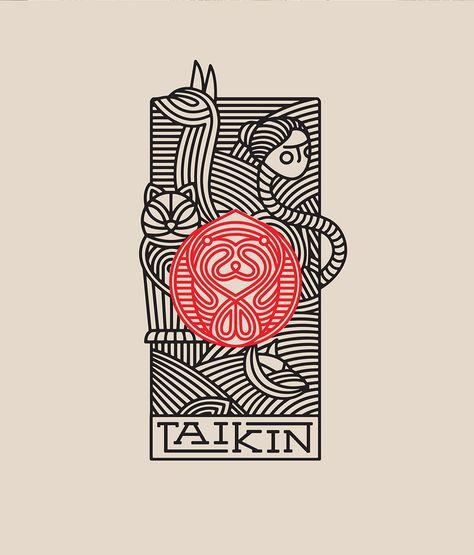 restaurant illustration Taiken Japanese Restaurant Branding by Oscar Bastidas Grits + Grids Poster Sport, Poster Cars, Poster Retro, Restaurant Branding, Restaurant Poster, Logo Branding, Corporate Branding, Japanese Poster Design, Design Poster