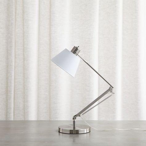 Shop Slim Desk Lamp with White Shade. Bright white shade