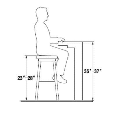 Standard Counter Stool Height Bar Height Stools Bar Stools