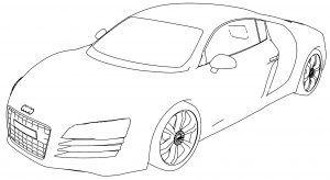 Car Coloring Pages Audi R8 Photos
