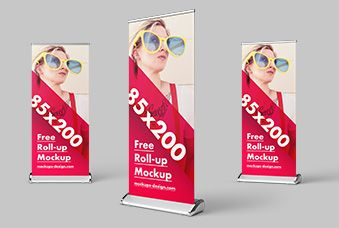 Download Free Mockup Roll Up Banner Yellowimages