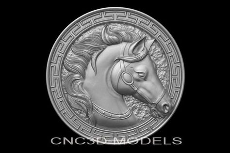 3D Model STL for CNC Router Engraver Carving Artcam Aspire Horse Animal g500