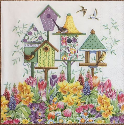 2 single paper napkins Decoupage Crafts Collection Servietten Flowers Butterfly