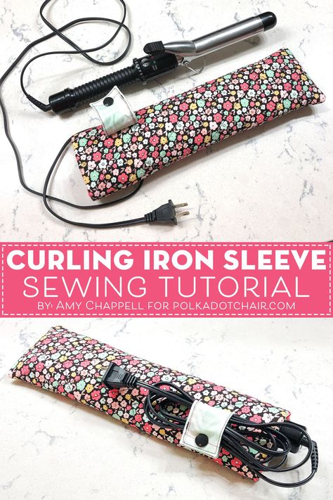 Best Cost-Free small Sewing projects Thoughts How to make a travel case for a curling iron. A free travel curling iron case sewing pattern. Sewing Patterns Free, Free Sewing, Pattern Sewing, Pattern Fabric, Pants Pattern, Clothes Patterns, Baby Sewing, Dress Patterns, Sewing Case