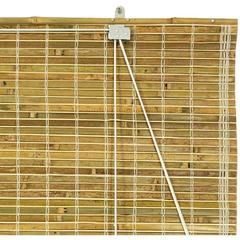 Burnt Bamboo Roll Up Blinds Natural 48 In X 72 In Kmart Romanblinds Verticalblindsandcurtains Bamboo Blinds Diy Blinds Vertical Window Blinds