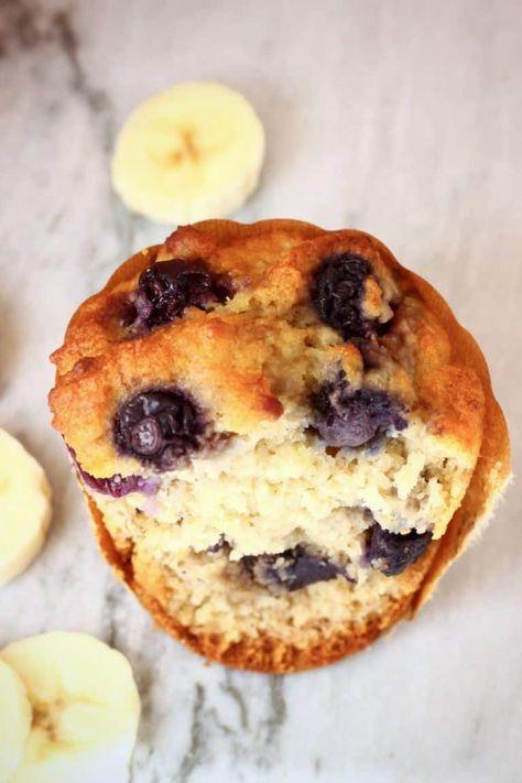 Gluten Free Vegan Blueberry Banana Bread Muffins Rhian S Recipes
