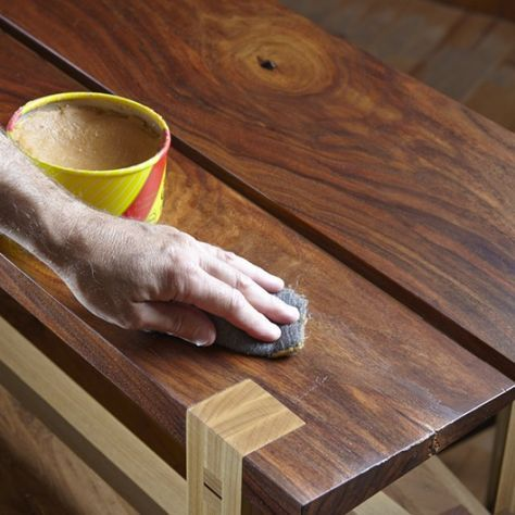 4 Steps To A Perfect Polyurethane Finish With Images Woodworking Finishes Wood Finishing Techniques Easy Woodworking Projects