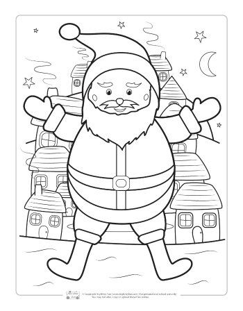 Free Christmas Coloring Pages | Free Printables for Kids | Pinterest ...
