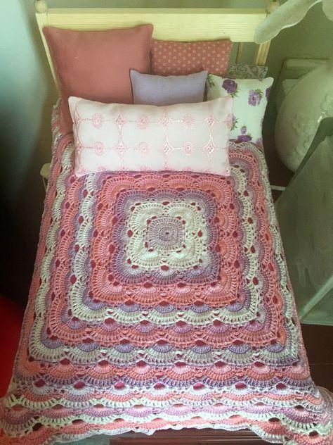 Dollbed crocheted virus blanket
