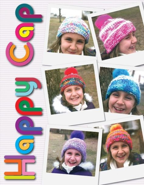 Happy Cap - Beanie from Euro Baby at KnittingFever.com The yarn comes with the pompom!