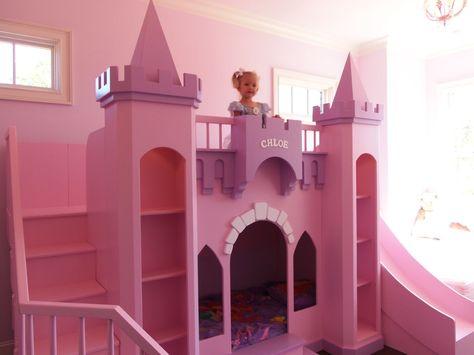 Princess Chloe Castle Loft Bunk Bed Indoor Playhouse Free Shipping