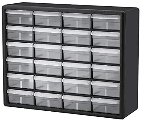 Amazon Com Akro Mils 24 Drawer 10124 Plastic Parts Storage Hardware And Craft Cabinet 20 Inch W X 6 Inch In 2020 Plastic Storage Cabinets Drawer Bins Craft Cabinet