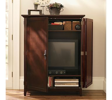 Linden Media Armoire #potterybarn | Media Cabinet Inspiration | Pinterest |  Armoires, Media Cabinet And Cabinet Inspiration