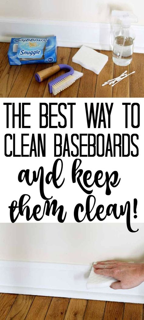 Want to know the best way to clean baseboards and keep them clean? We have the tips and tricks you need for the job! hacks tips and tricks Best Way to Clean Baseboards - and keep them clean! Household Cleaning Tips, Cleaning Day, Cleaning Checklist, House Cleaning Tips, Diy Cleaning Products, Cleaning Hacks, Clean House Tips, Spring Cleaning Tips, Cleaning Routines