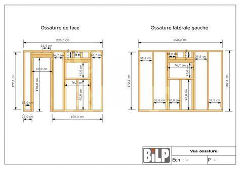 Coupe de mur ossature bois avec isolation double mur intérieur - Refaire Electricite Maison Cout