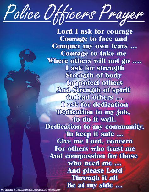 Police Officers Prayer Printable