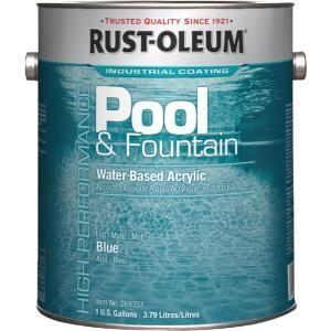 Rust Oleum 1 Gal Marlin Blue Acrylic Pool And Fountain Paint 2 Pack 269357 The Home Depot Pool Paint Rustoleum Waterproof Paint