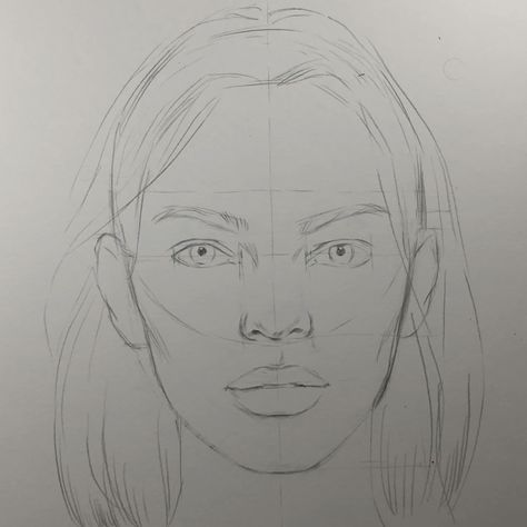 It's a freehand rough sketch before shading and toning.