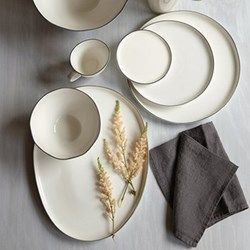 Abbesses Metallics Gold Rim Dinnerware Build Your Gift List At The