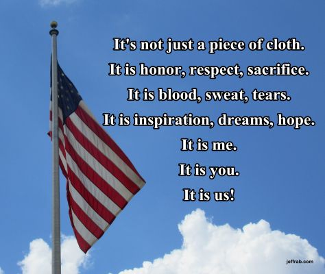 In Respect Of Our Home With Images Flag Quote Respect The