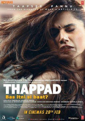 Thappad 2020 Full Hindi Movie Watch In Hd In 2020 Hindi Movies