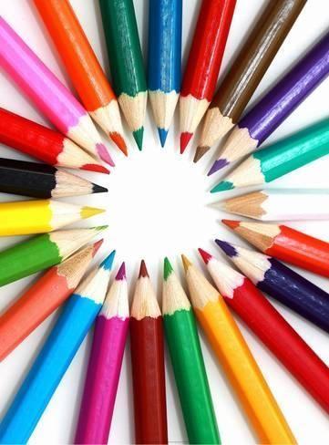 Art Print Colored Pencils Color Pencil Art Colored Pencils Pillow Art