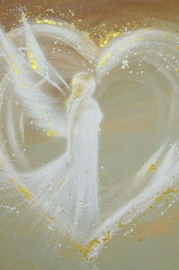 Limited angel art photo, modern angel painting, artwork, acrylics, Engelbild, moderne Engel, Bilder