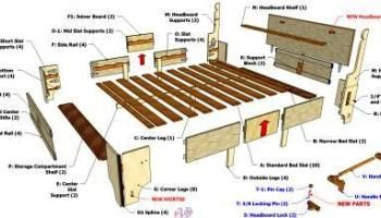 California King Size Folding Bed 3d Woodworking Plans In 2020 Box Bed Folding Beds Folding Bed Frame