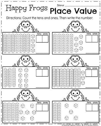 First Grade Worksheets For Spring Planning Playtime First Grade Worksheets First Grade Math Worksheets Place Value Worksheets