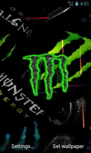 Monster Energy Live Wallpaper App For Android Android App Energy Live Monster Wallpaper Control