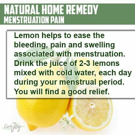 Lemon water for your heavy, painfull periods