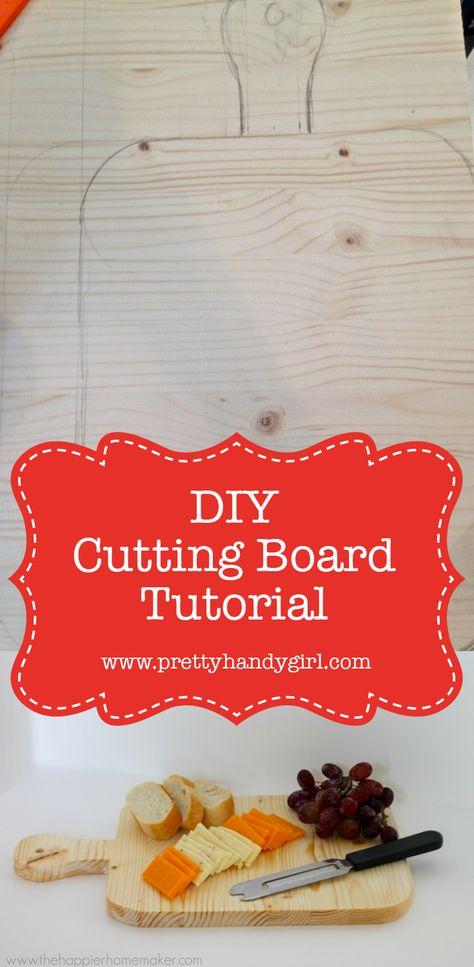 diypresent DIY cutting board, DIY holiday...