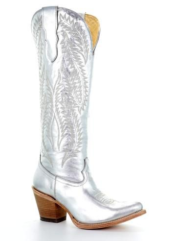 M.7901 S2 Black New Rock Cowboy Boots with Silver Flame Detail