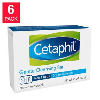Cetaphil Gentle Cleansing Bar 6 Pack In 2020 Cetaphil Body