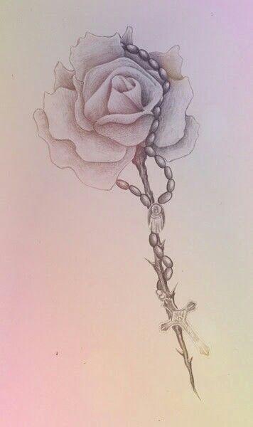 Bell Croix Tatouage Floral Tatouage Rose Tatouage Dentelle