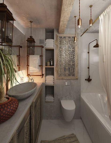 109 best Bad images on Pinterest Bathroom, Half bathrooms and - badezimmer ideen für kleine bäder