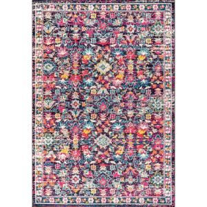 Jonathan Y Modern Persian Boho Floral Multi Purple 8 Ft X 10 Ft Area Rug Mdp200a 8 The Home Depot In 2021 Area Rugs Yellow Area Rugs Jonathan Y