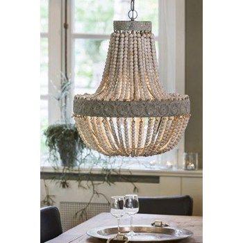 Luna Wooden Beaded Chandelier Pendant Light In 2020 Chandelier Pendant Lights Beaded Chandelier Chandelier In Living Room