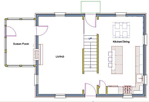 Kitchen Remodeling For A 1933 Modest Colonial Part 2 Remodeling Floor Plans Center Hall Colonial House Plans
