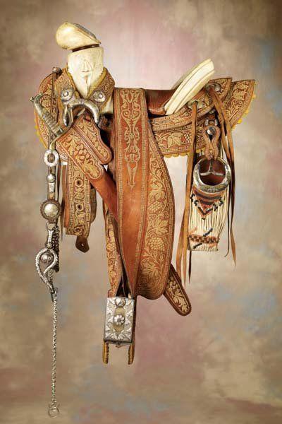 Fancy Mexican Saddle, Sword, Bridle & Cinch Ensemble