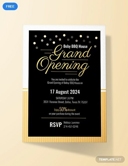 Free Grand Opening Invitation Card Grand Opening