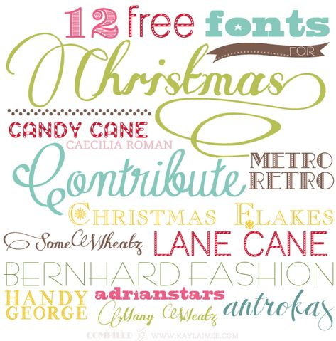 12 Free Fonts For Christmas